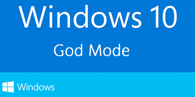 Windows 10: Activer le mode God !
